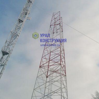 Монтаж антенной опоры АО-70